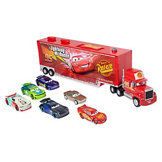 Camión transportador de coches con motor fricción Mack, Disney Pixar Cars, Disney Store