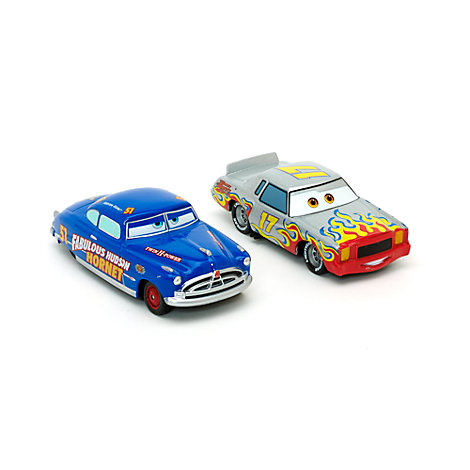 Disney Pixar Cars Darrell Cartrip and Hudson Hornet Die-Casts