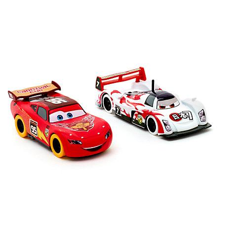 Voitures miniatures Flash McQueen et Shu Todoroki Disney Pixar Cars