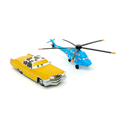 Disney Pixar Cars Tex and Dinoco Chopper Die-Casts