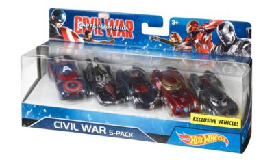 The First Avenger: Civil War -  Hot Wheel Autos, 5er-Set