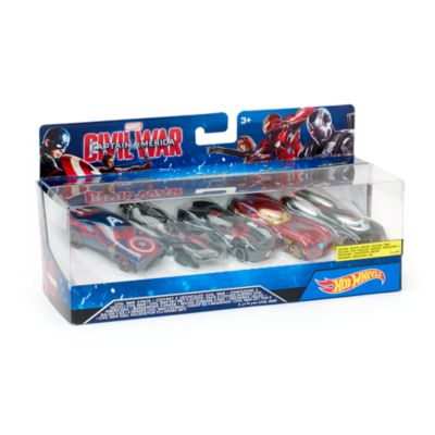 Ensemble de 5 voitures Hot Wheels Captain America : Civil War