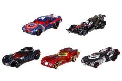 Coches Hot Wheels Capitán América: Civil War, set de 5
