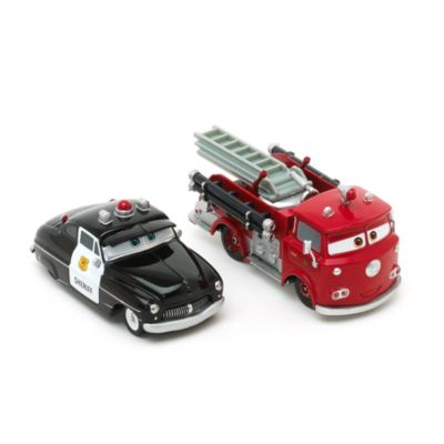 sheriff and red diecasts disney pixar cars