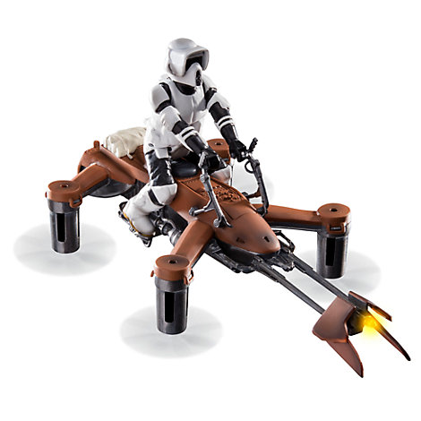 74-Z Speeder Bike Laser Battling Quadcopter Drone, Star Wars