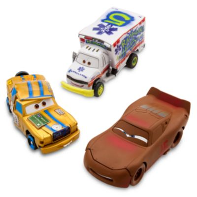 Disney Pixar Cars 3 Thunder Hollow Crazy 8's Demolition 3-Pack Crash Set