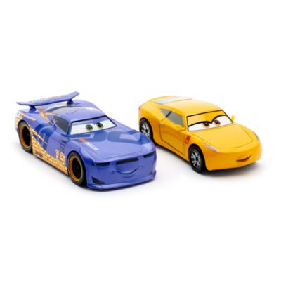 Cruz Ramirez och Daniel Swervez formgjutna figurer, Disney Pixar Bilar 3