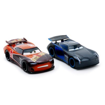 voitures miniatures jackson storm et tim treadless disney pixar cars 3. Black Bedroom Furniture Sets. Home Design Ideas