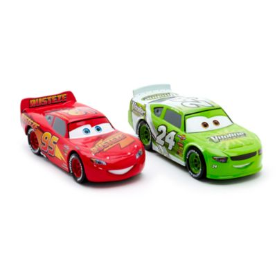 Blixten McQueen and Brick Yardley formgjutna figurer, Disney Pixar Bilar 3