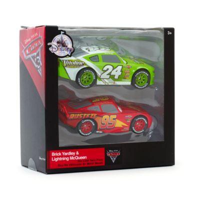 Voitures miniatures Flash McQueen et Brick Yardley, Disney Pixar Cars3