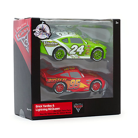 Lightning McQueen and Brick Yardley Die-Casts, Disney Pixar Cars 3