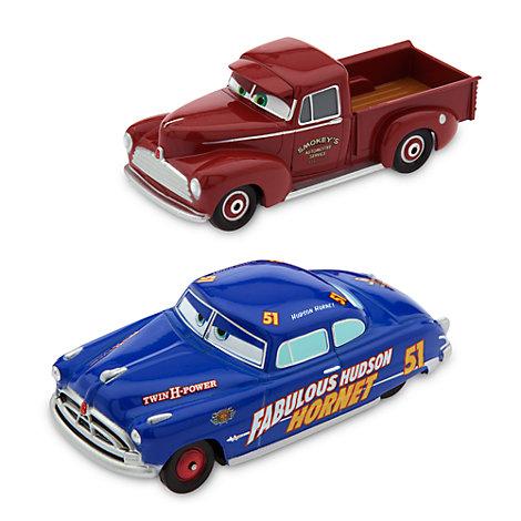 Vehículos a escala de El fabuloso Hudson Hornet y Smokey, Disney Pixar Cars 3