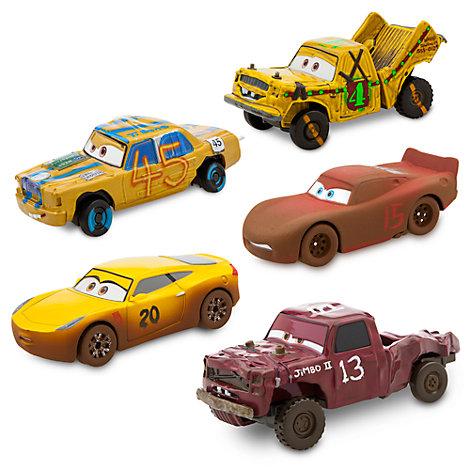 Disney Pixar Biler 3 formstøbte modeller, sæt med 5