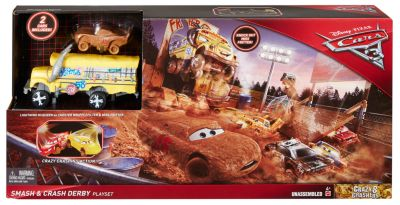 Crazy 8 Crashers Smash & Crash Derby Playset, Disney Pixar Cars 3