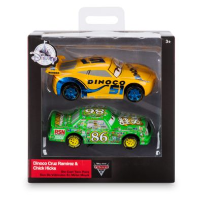 Dinoco Cruz Ramirez og Ronny Ræs formstøbte modeller, Disney Pixar Biler 3