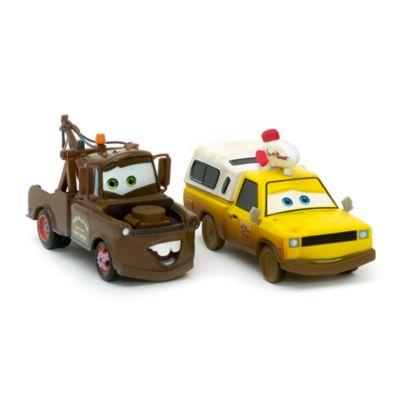 Vehículos a escala de Mate y Todd, la camioneta de Pizza Planet, Disney Pixar Cars 3
