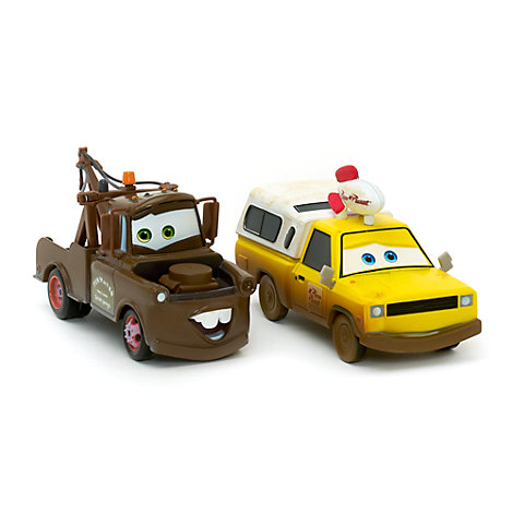 Bärgarn och Todd från Pizza Planet, formgjutna modeller, Disney Pixar Bilar 3
