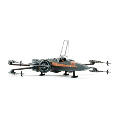 Poe Dameron och X-wing statyettset