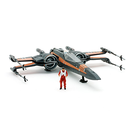 Poe Dameron and X-wing Fighter Figurine Set