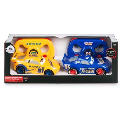 Set de dos coches teledirigidos del fabuloso Rayo McQueen y Cruz Ramírez, Disney Pixar Cars 3