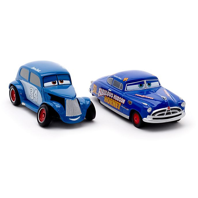 Voitures miniatures Hudson Hornet et River Scott, Disney Pixar Cars3