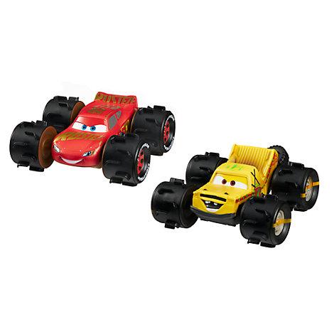 Voitures de course tout-terrain Flash McQueen et Taco