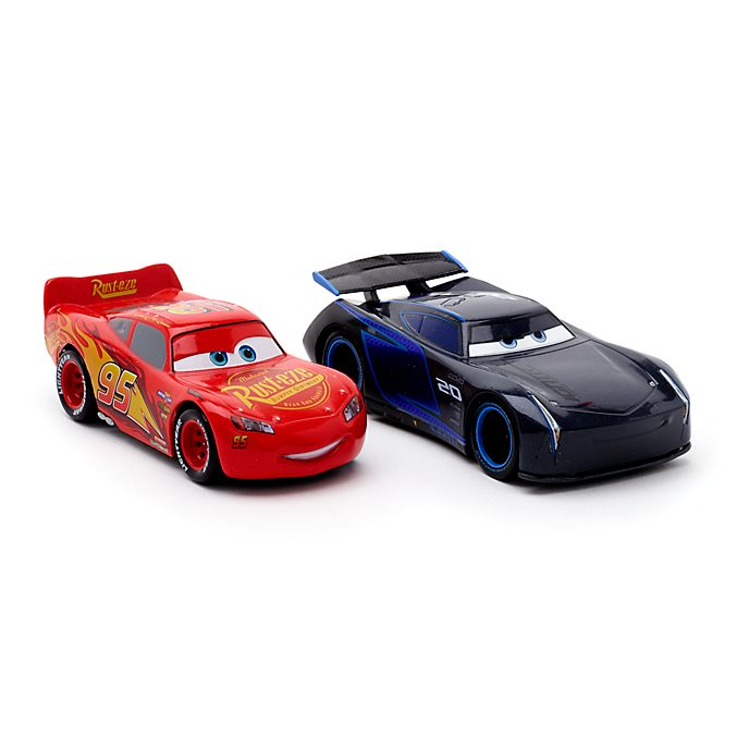 Voitures miniatures Flash McQueen et Jackson Storm, Disney Pixar Cars3