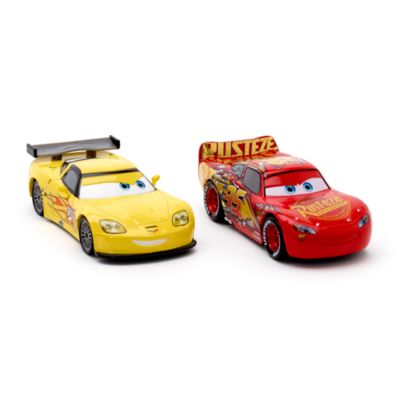 Voitures miniatures Flash McQueen et Jeff Gorvette, Disney Pixar Cars 3