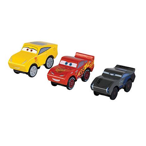 disney pixar cars 3 wooden piston cup figurines 3 pack. Black Bedroom Furniture Sets. Home Design Ideas