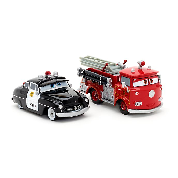 sheriff and red die casts disney pixar cars 3