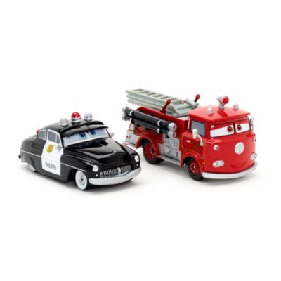 Voitures miniatures Sheriff et Red, Disney Pixar Cars 3