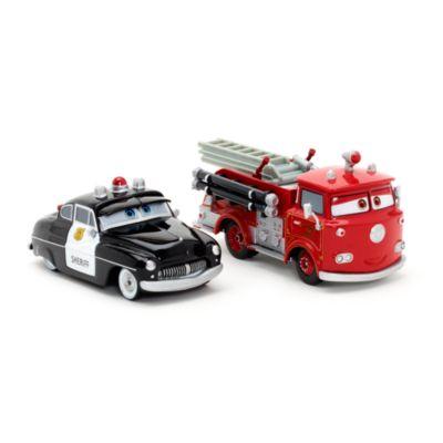 Vehículos a escala Sheriff y Red, Disney Pixar Cars 3