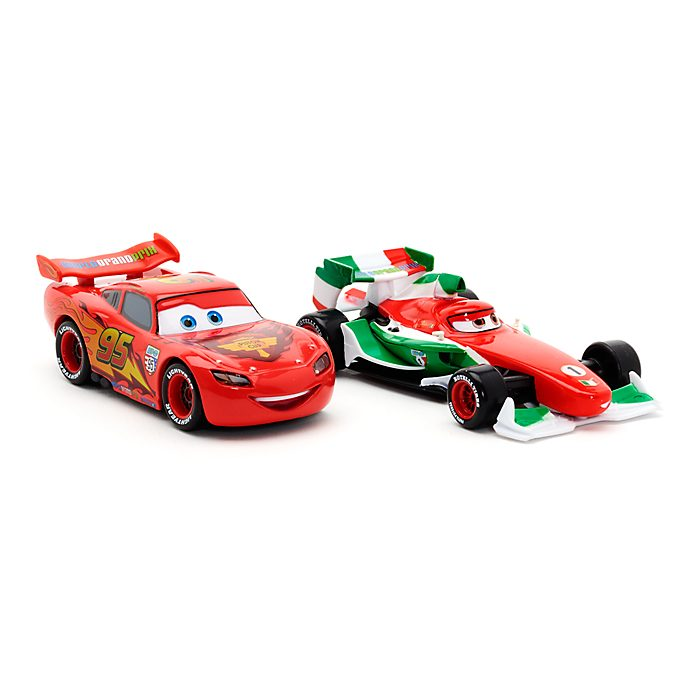 Voitures miniatures Flash McQueen et Francesco Bernoulli