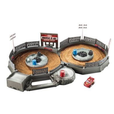 Set da gioco Crank and Crash Derby Disney Pixar Cars