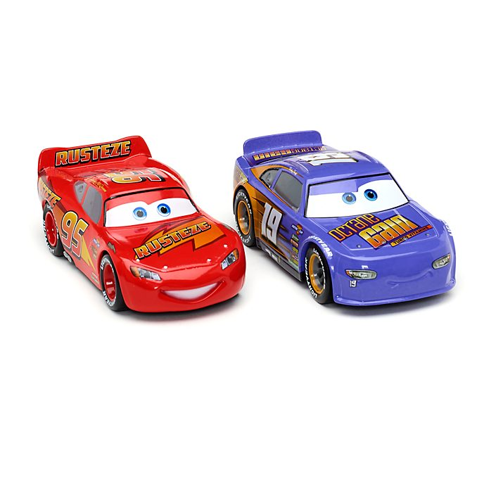 Disney Store Lightning McQueen and Bobby Swift Die-Cast Twin Pack