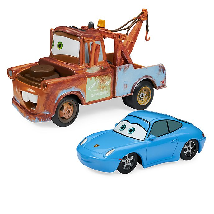 Disney Store Mater and Sally Die-Cast Twin Pack