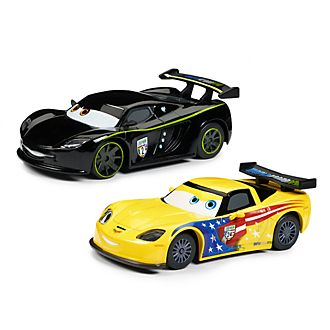 Disney Store Jeff Gorvette and Lewis Hamilton Die-Cast Twin Pack