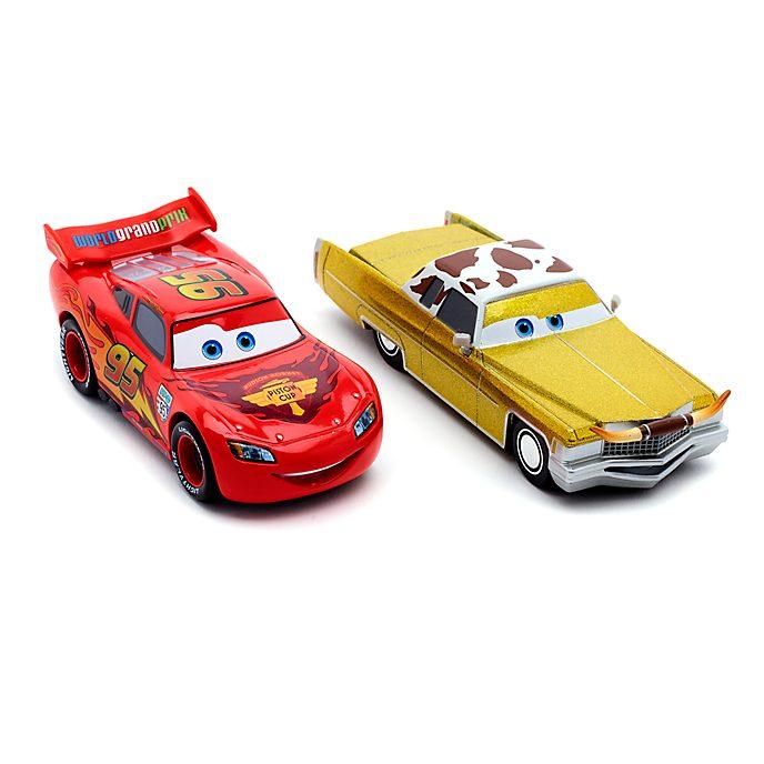Set vehículos a escala Rayo McQueen y Tex Dinoco, Disney Store (2 u.)