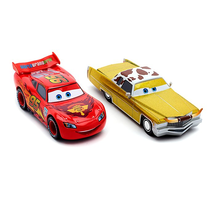 Disney Store Lightning McQueen and Tex Dinoco Die-Cast Twin Pack