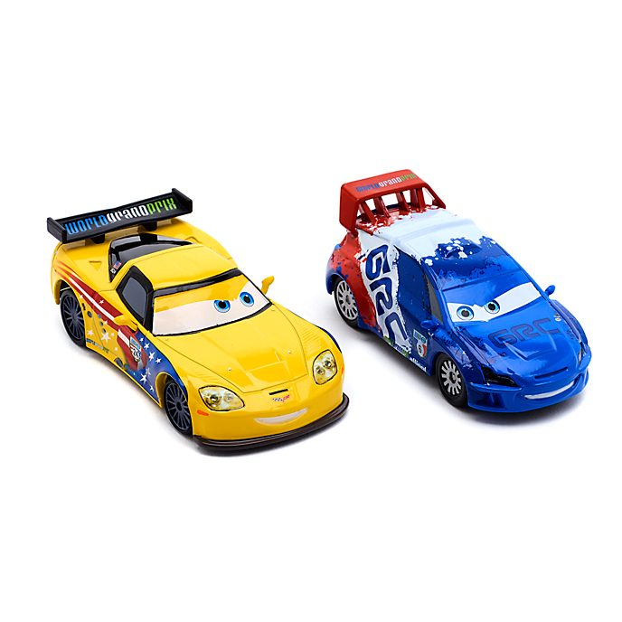 Disney Store Raoul CaRoule and Jeff Gorvette Die-Cast Twin Pack