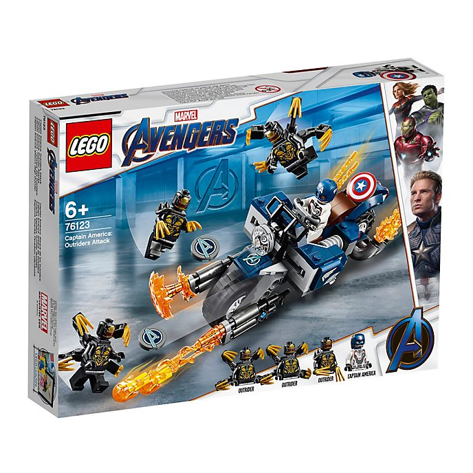 Set LEGO 76123 Captain America: Outriders Attack Avengers: Endgame