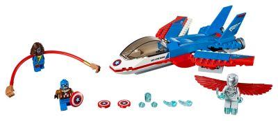Set LEGO 76076 Inseguimento sul jet di Capitan America