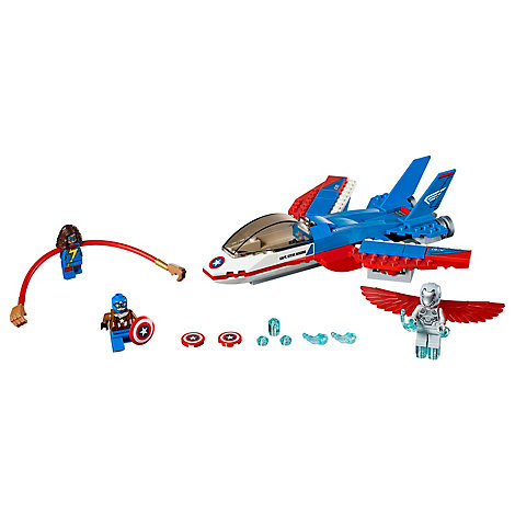 Ensemble LEGO 76076 La poursuite en avion de Captain America