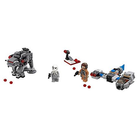 Ensemble LEGO 75195 Microvaisseaux: Ski Speeder contre Quadripode du Premier Ordre