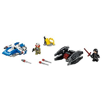 LEGO 75196 set A-Wing contro Microfighter TIE Silencer
