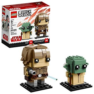 LEGO Duo de figurines BrickHeadzLuke Skywalker et Yoda, collection BrickHeadz