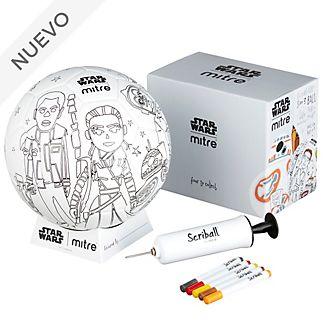Balón para colorear Scriball BB-8, Star Wars, Mitre