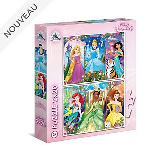 Clementoni Lot de 2 puzzles Princesses Disney