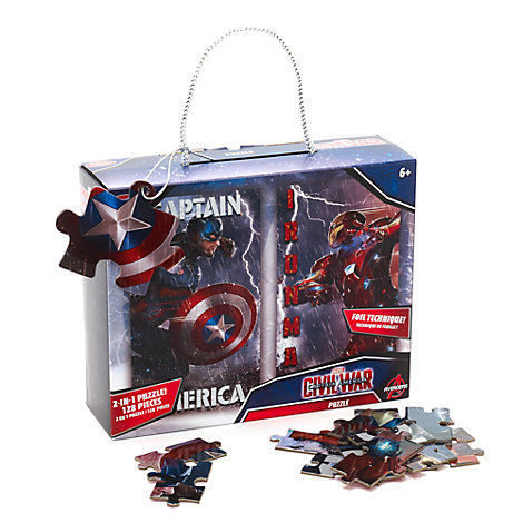 The Avengers - Captain America und Iron Man 2-in-1-Puzzleset (128 Teile)