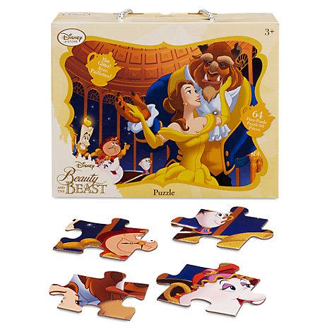 Puzzle 64 pezzi ruvidi con brillantini La Bella e la Bestia